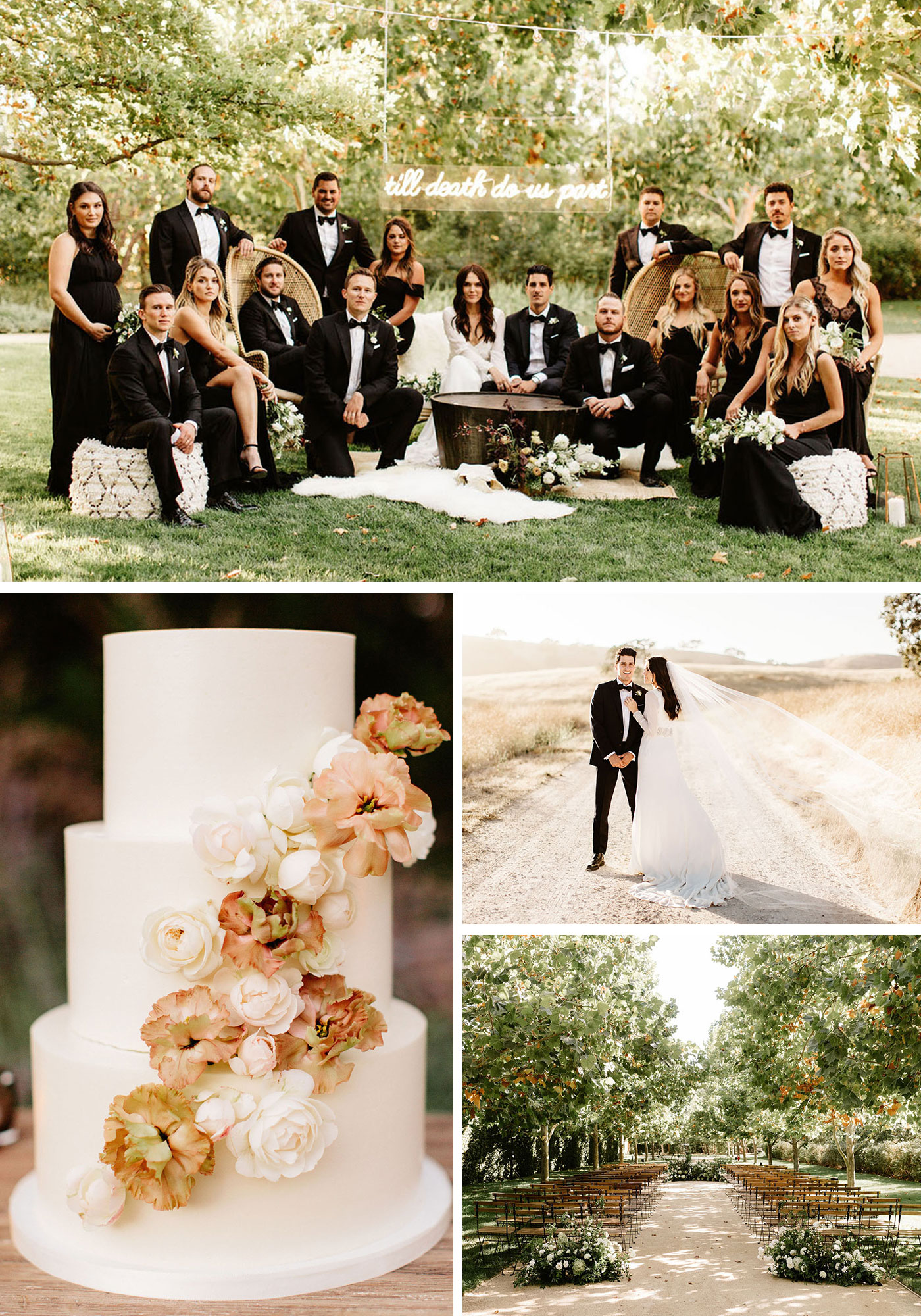 A Black Tie Affair: Modern Countryside Wedding with Luxe Boho Accents