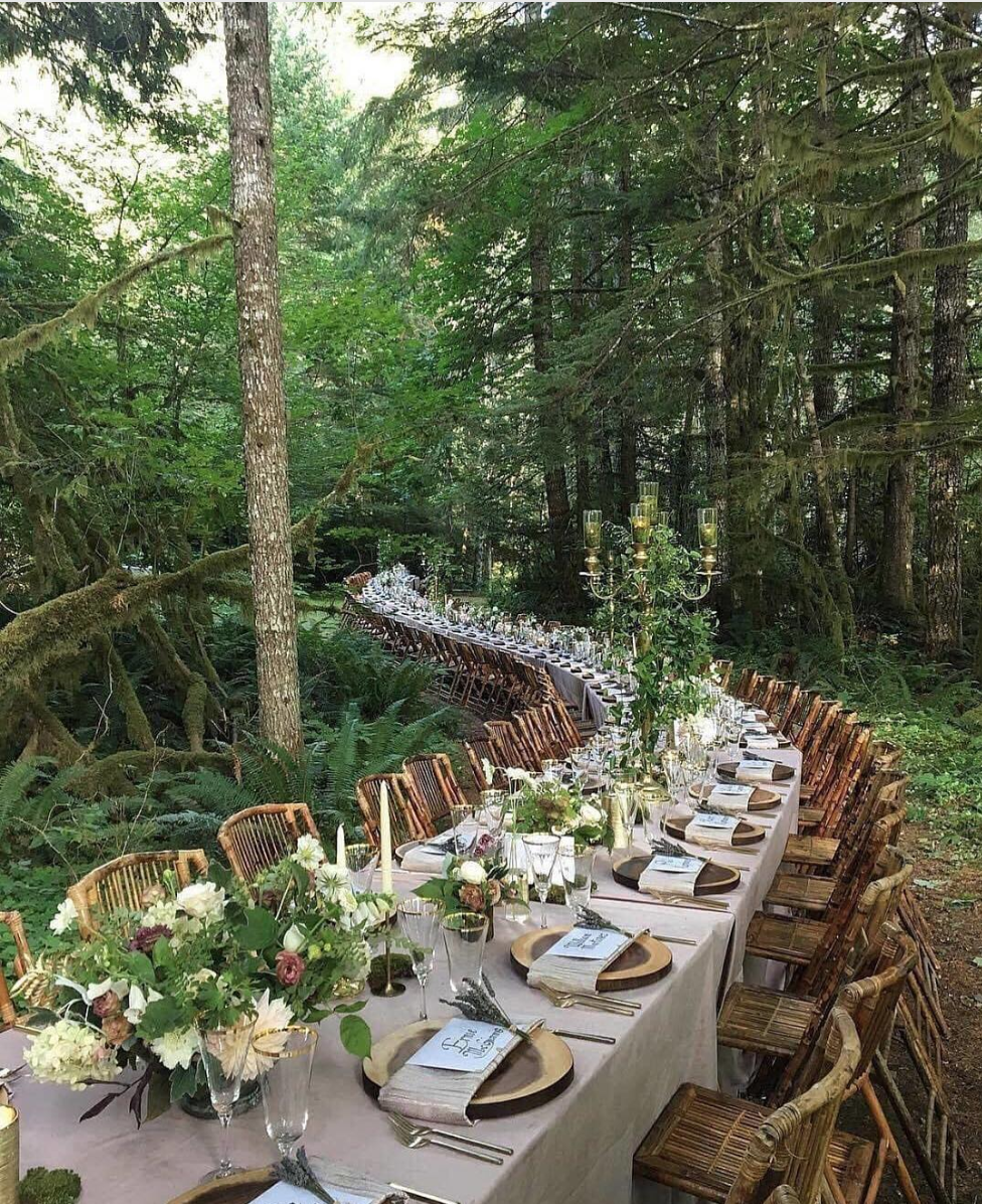 magical forest reception dinner