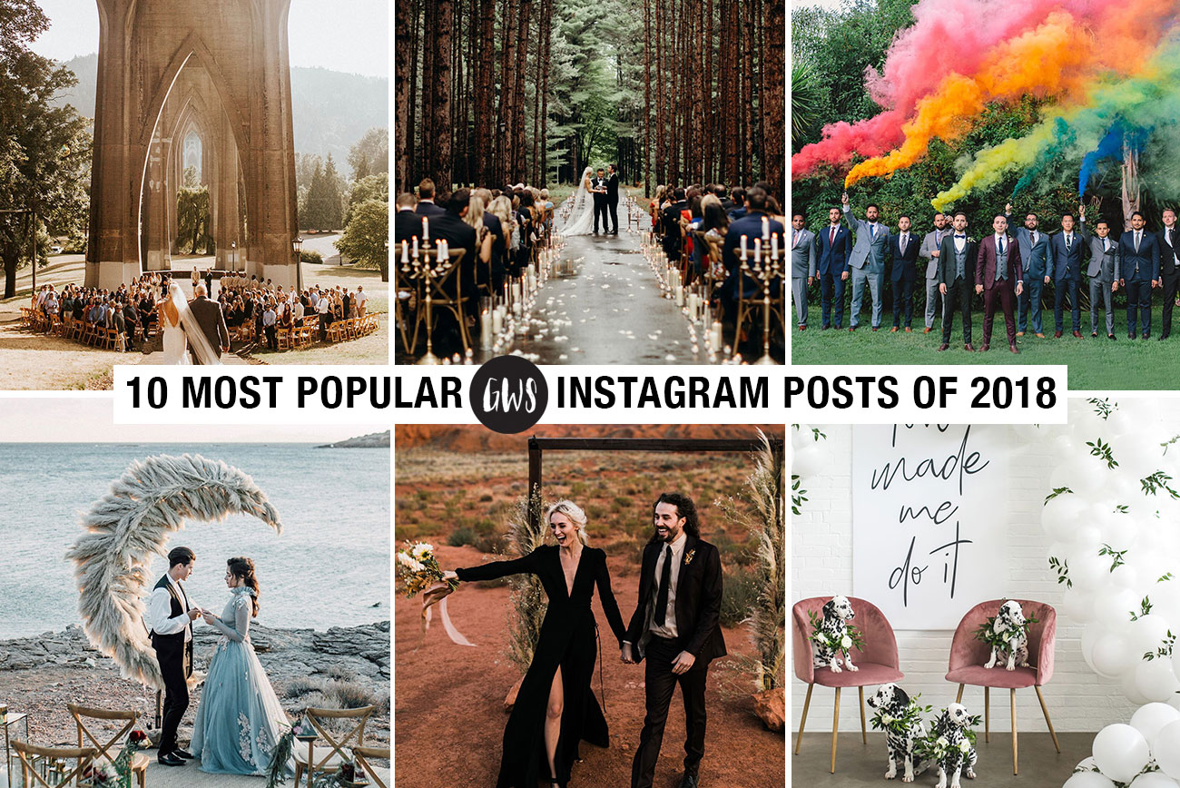 10 Most Popular Instagram Posts of 2018 for Green Wedding Shoes