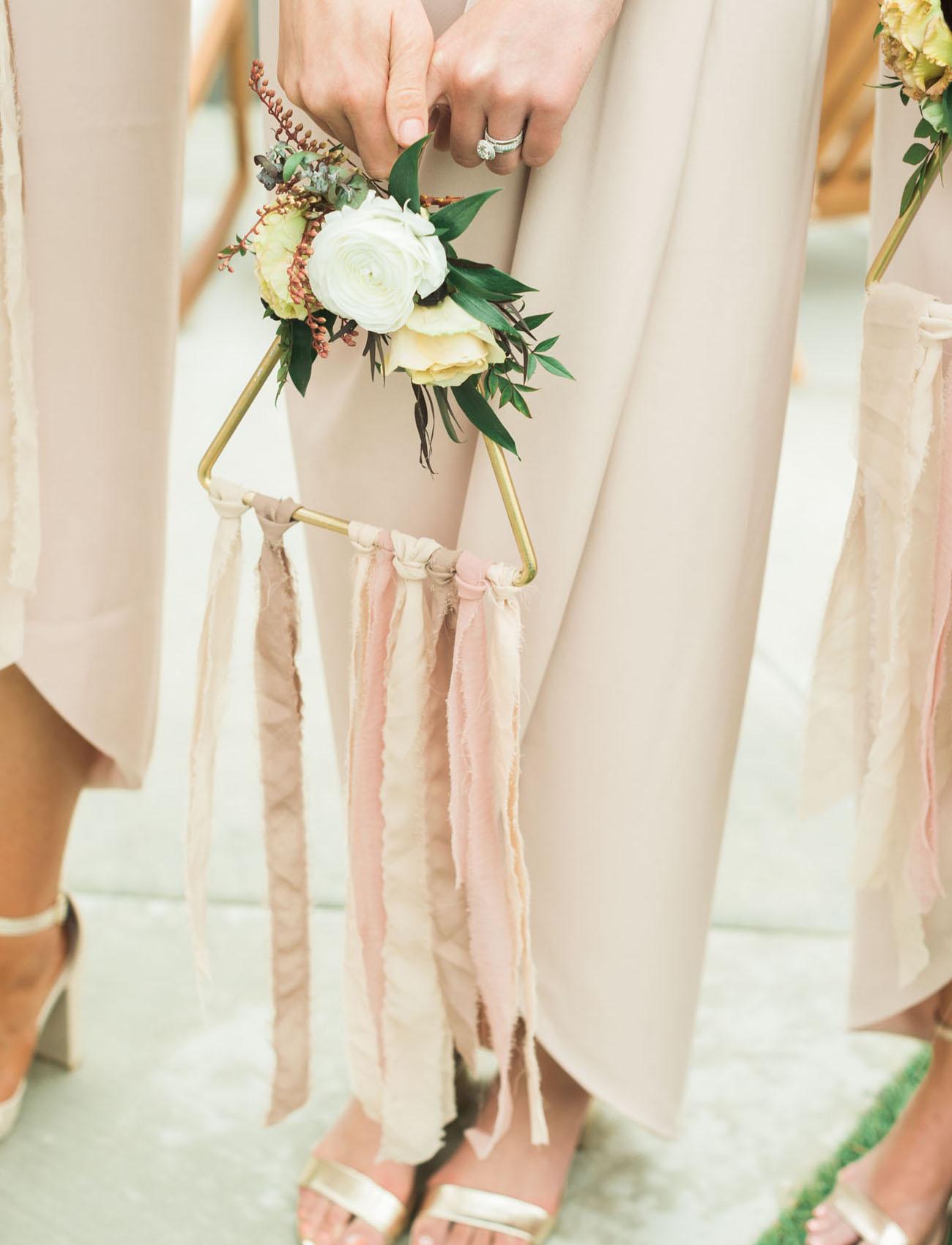 triangle hoop bouquet