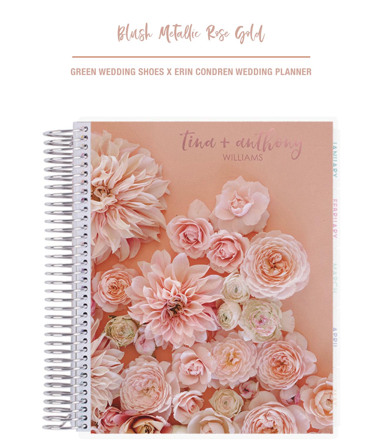 Green Wedding Shoes x Erin Condren Wedding Planner Blush Rose Gold Cover