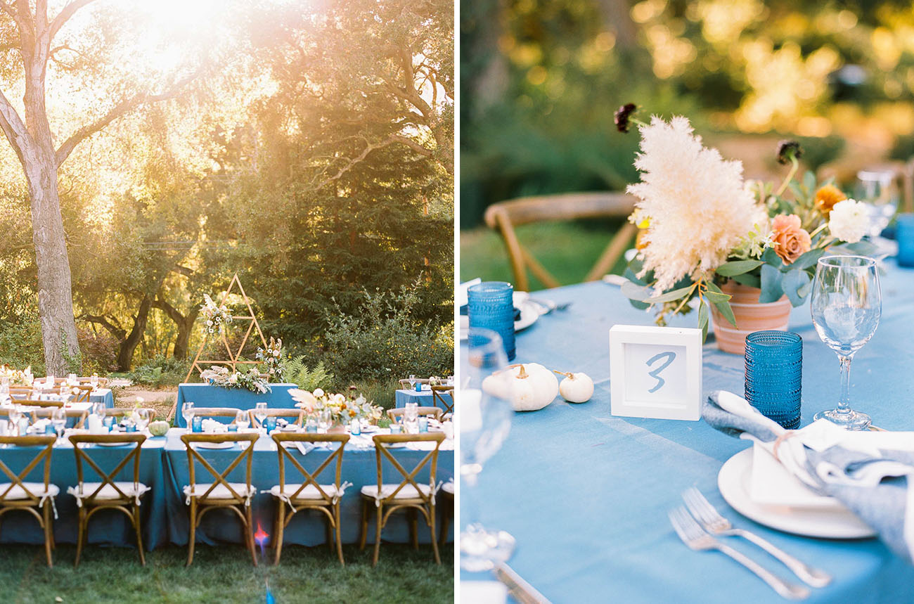 Bohemian Blue Carmel Wedding