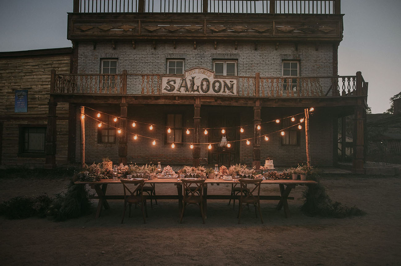 old west wedding reception