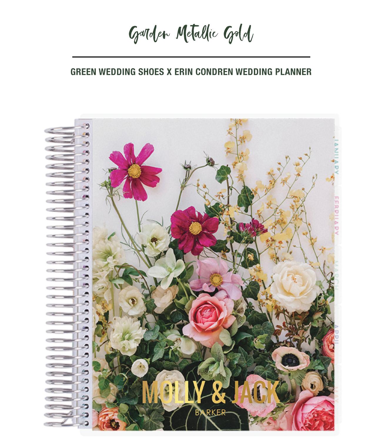 Green Wedding Shoes x Erin Condren Wedding Planner Garden Metallic Gold Cover