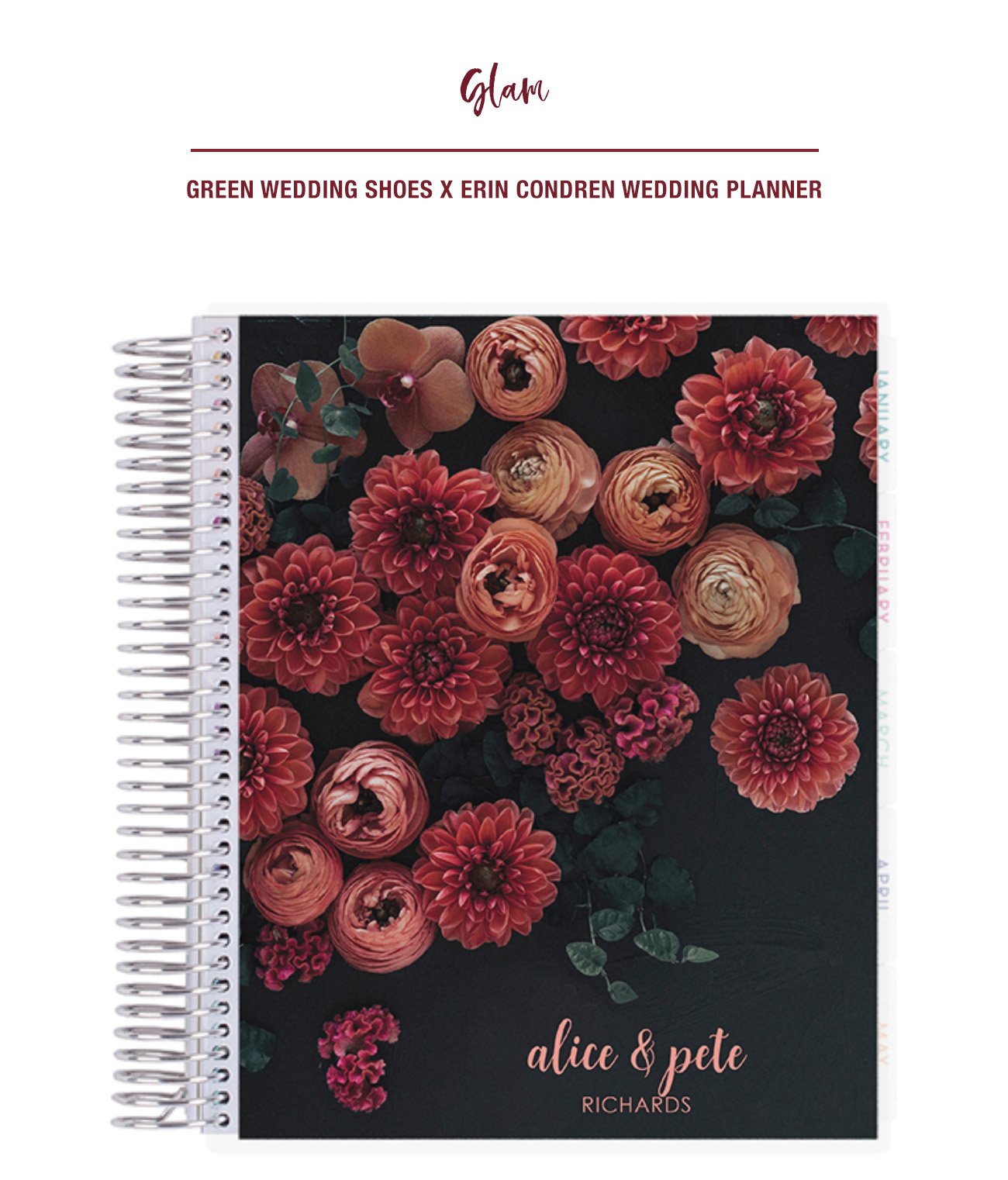 Green Wedding Shoes x Erin Condren Wedding Planner Glam Cover