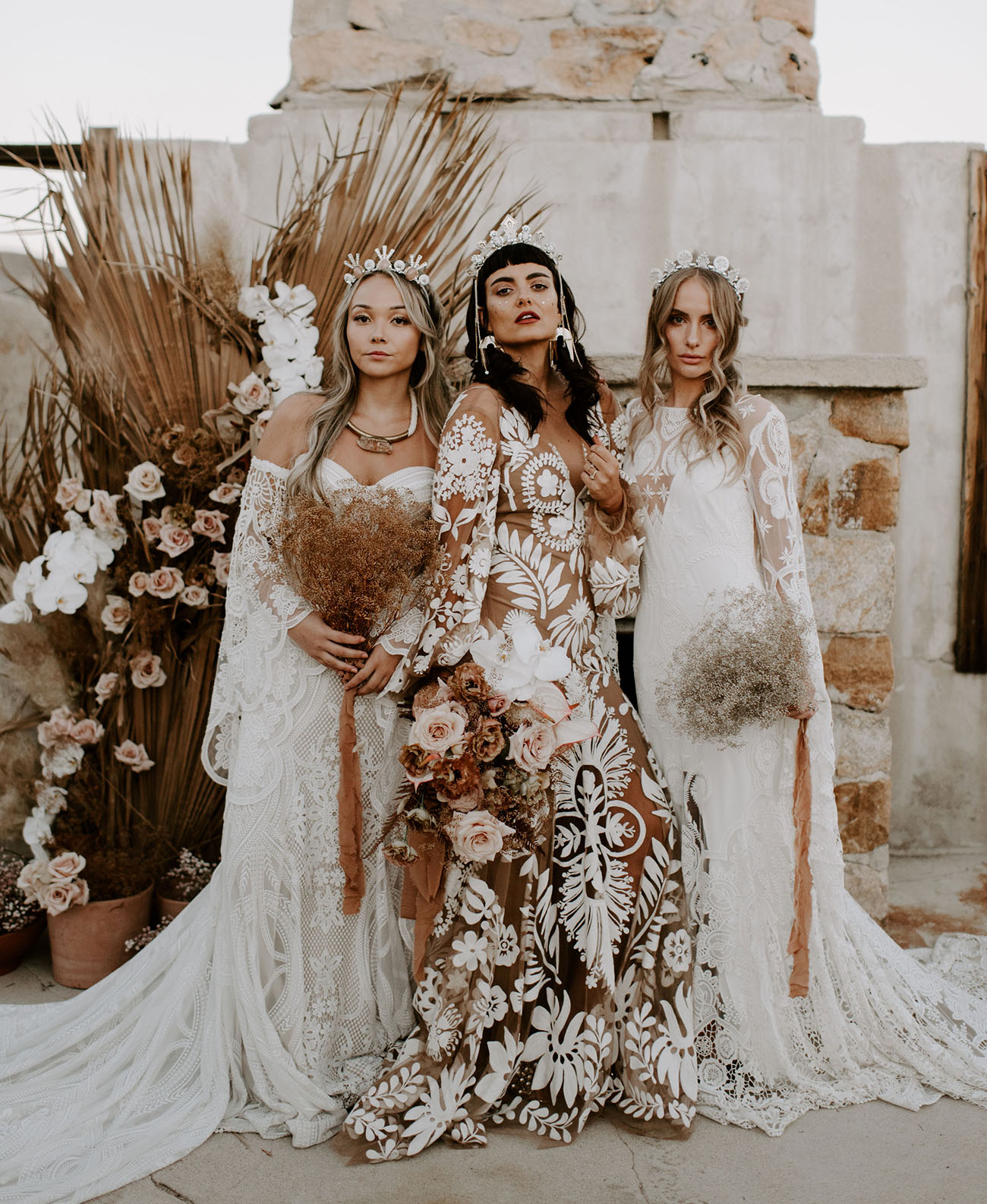 We are the Wild Ones: Nude + Rose Gold Wedding Inspiration in the Desert ? Part 1