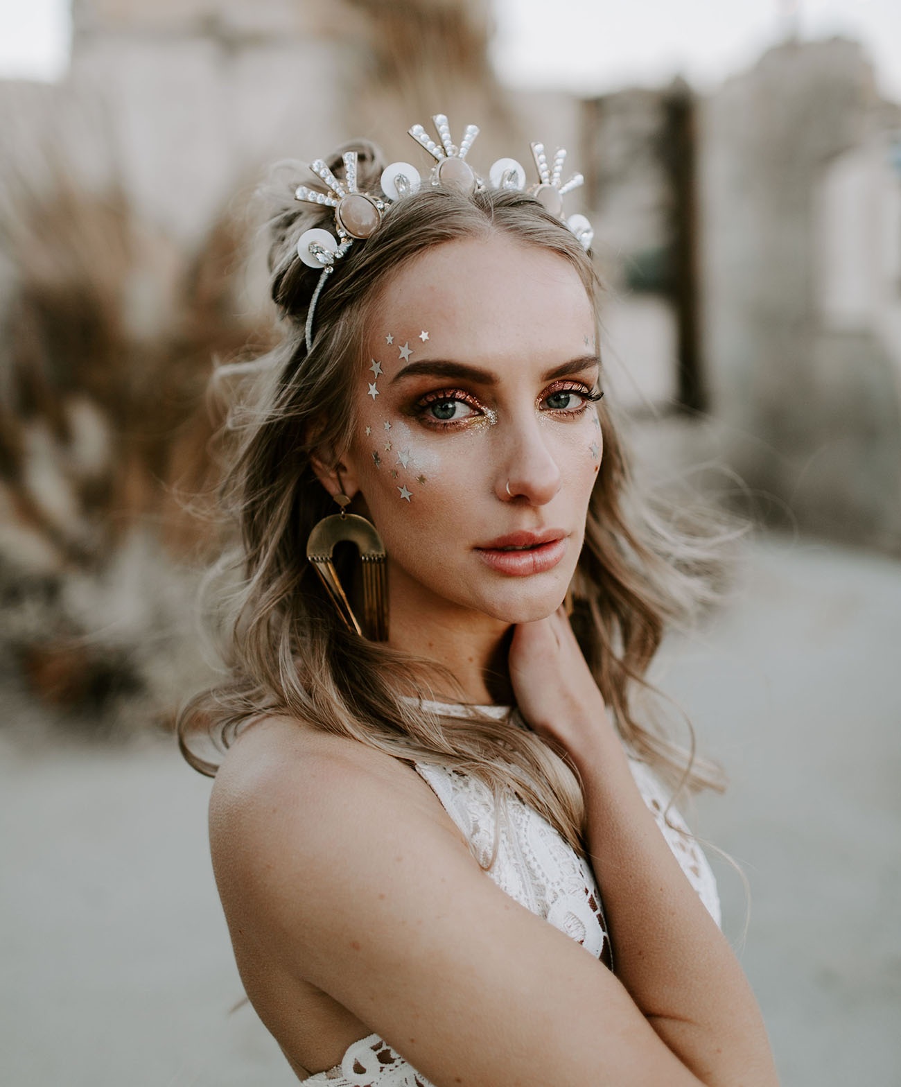 moden bridal crown