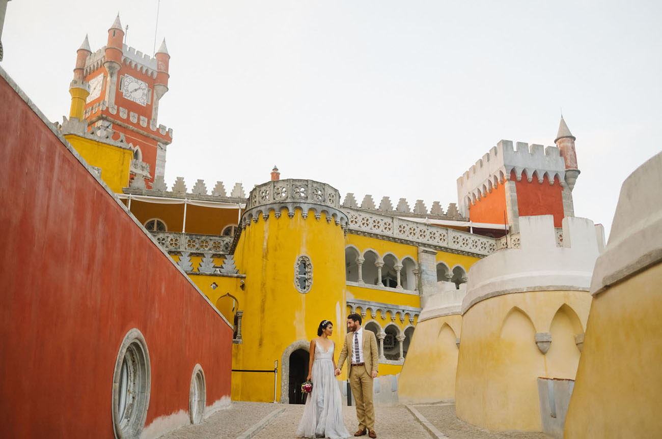 Boldly in Love: A Modern Elopement at Portugal?s Colorful Pena Palace