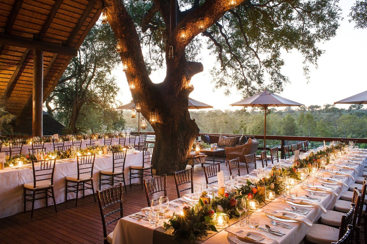 safari wedding reception