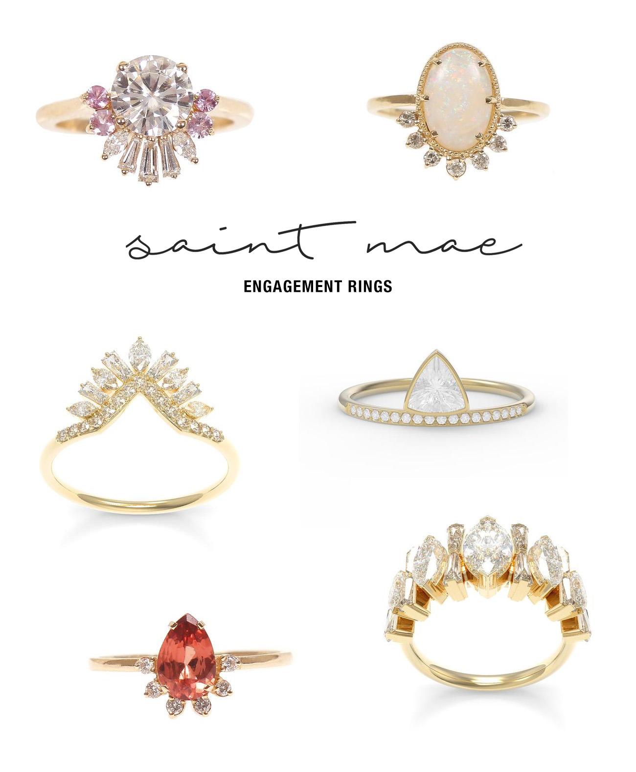 saint mae engagement rings