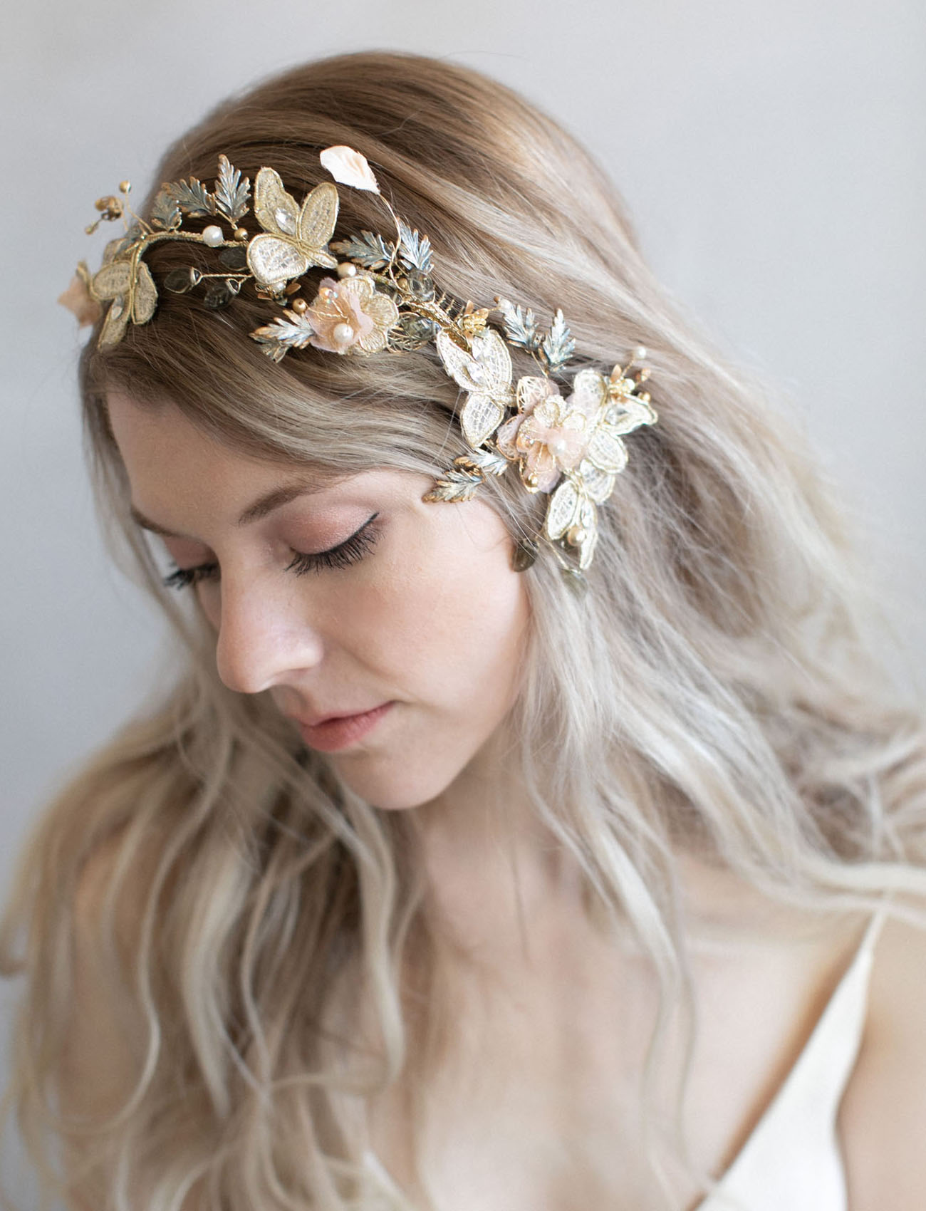 butterfly bridal hair piece