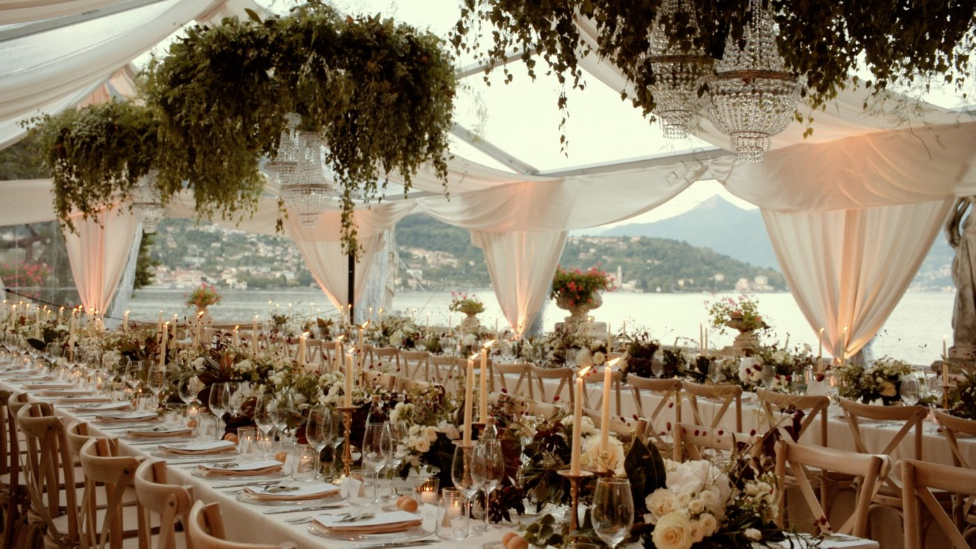 Lake Como Wedding Reception