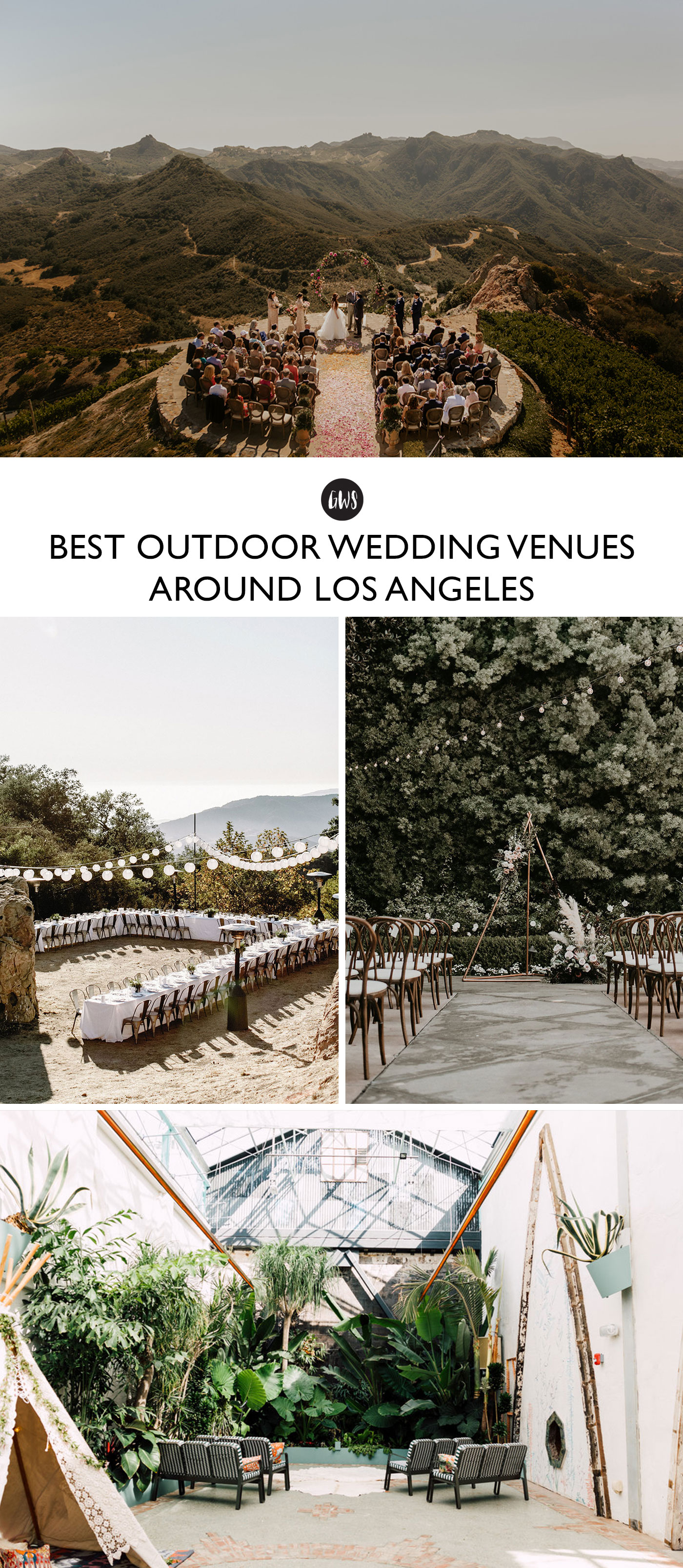 the best venues for outdoor weddings in Los Angeles, Malibu, and the OC