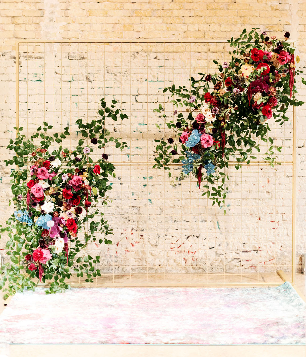hanging floral backdrop