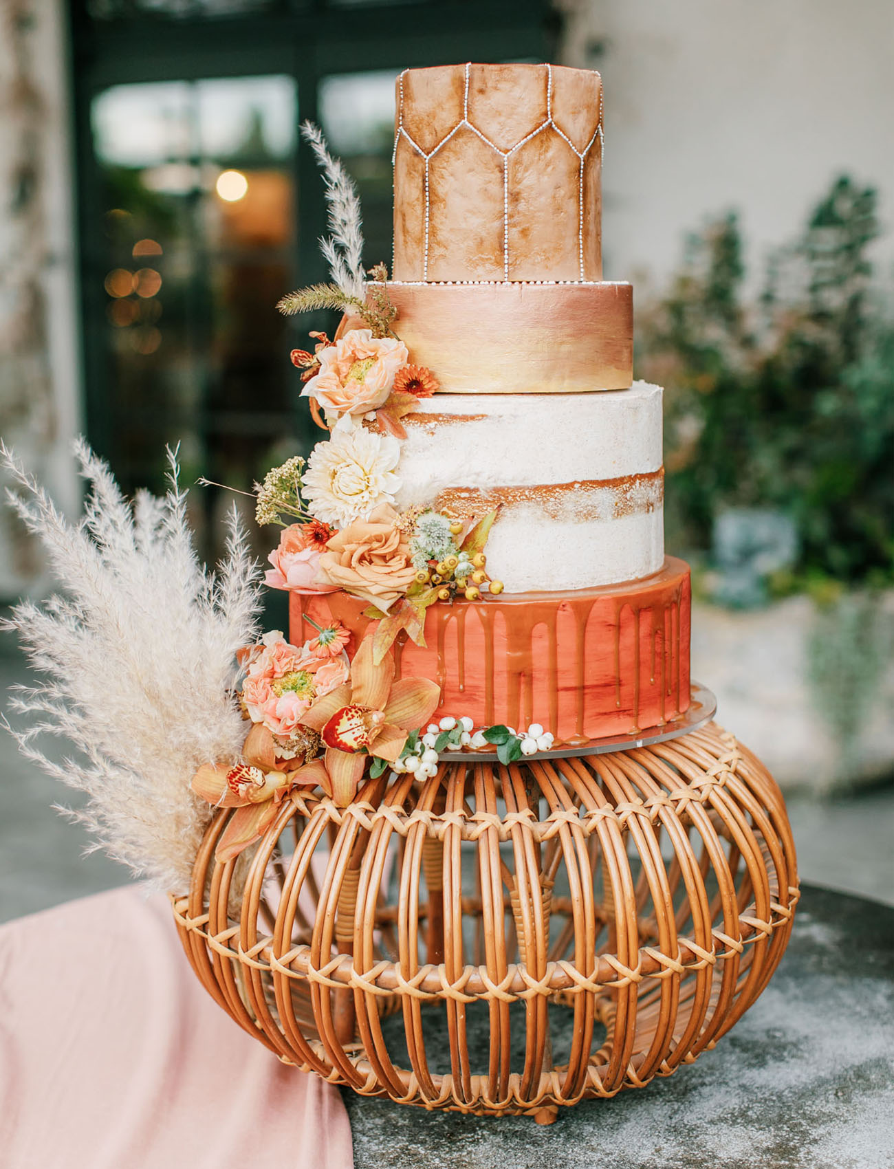 leather wedding cake