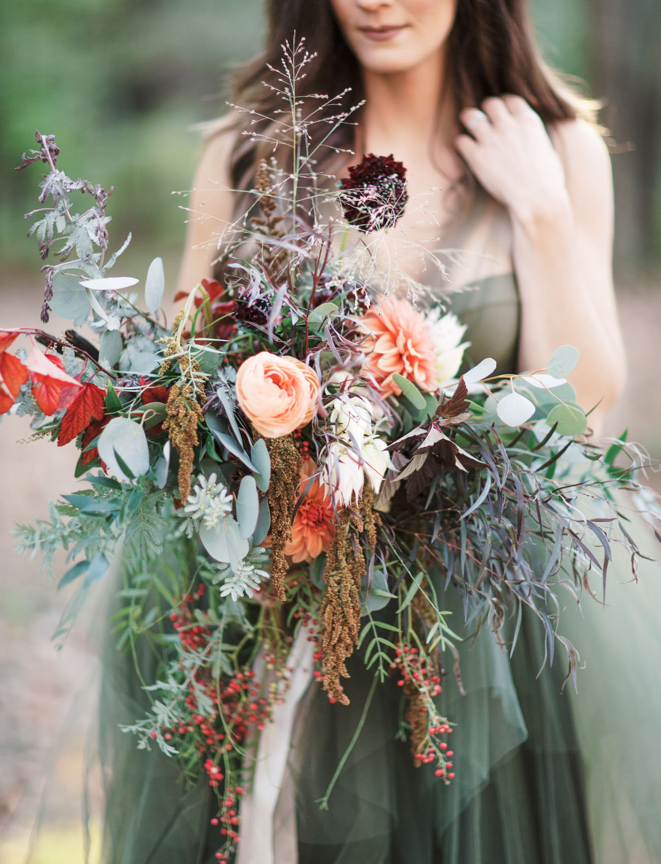 earthy greenery bouquet