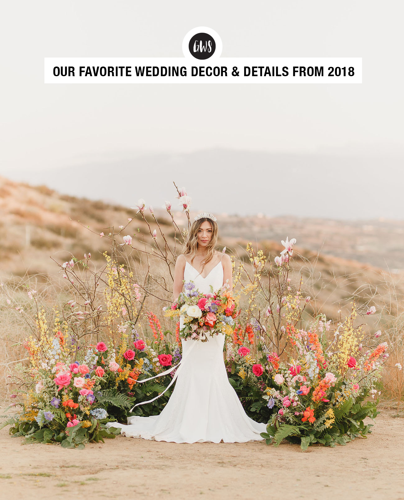 favorite wedding decor + details from Green Wedding Shoes of 2018