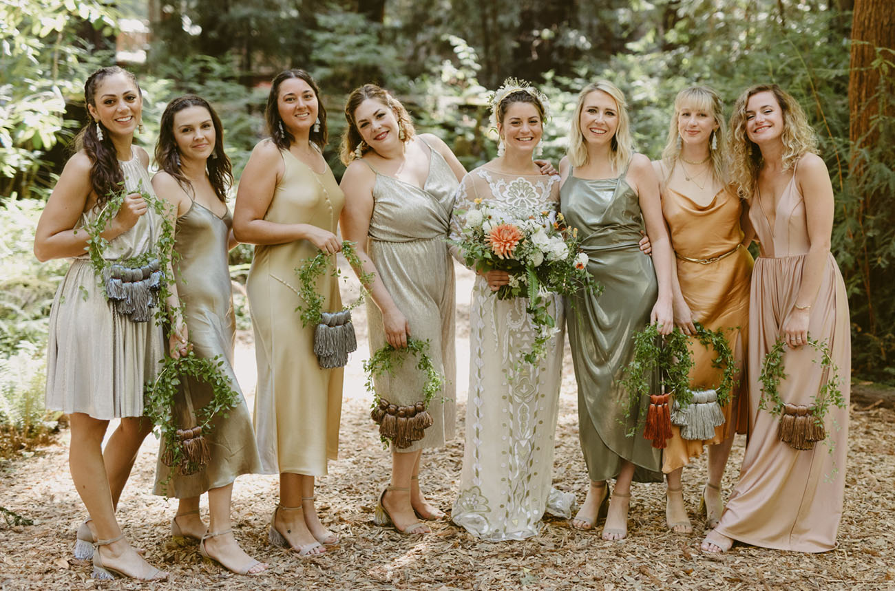 sage colored bridesmaids