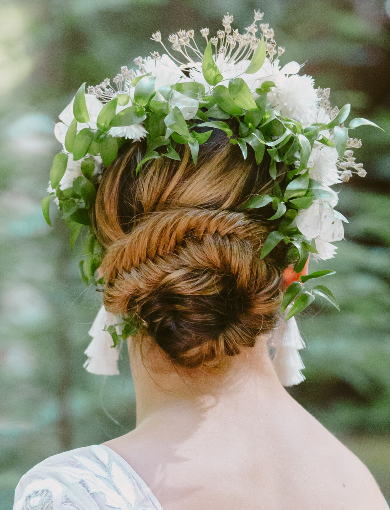 flower bridal crown