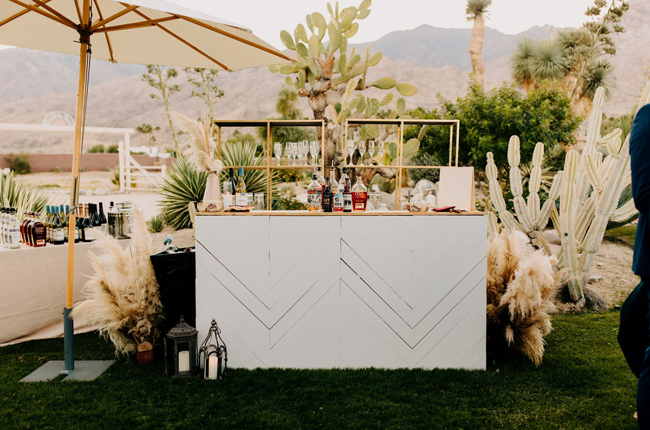 boho wedding bar