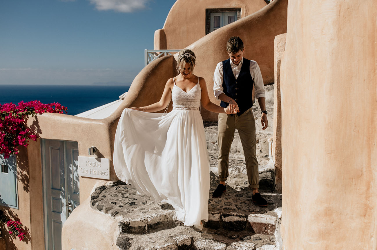 Boho Santorini Wedding