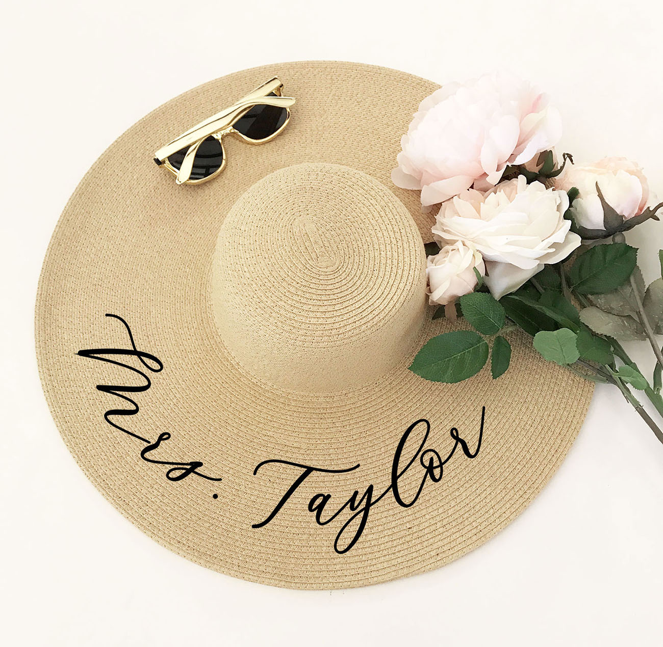 custom bride sun hat