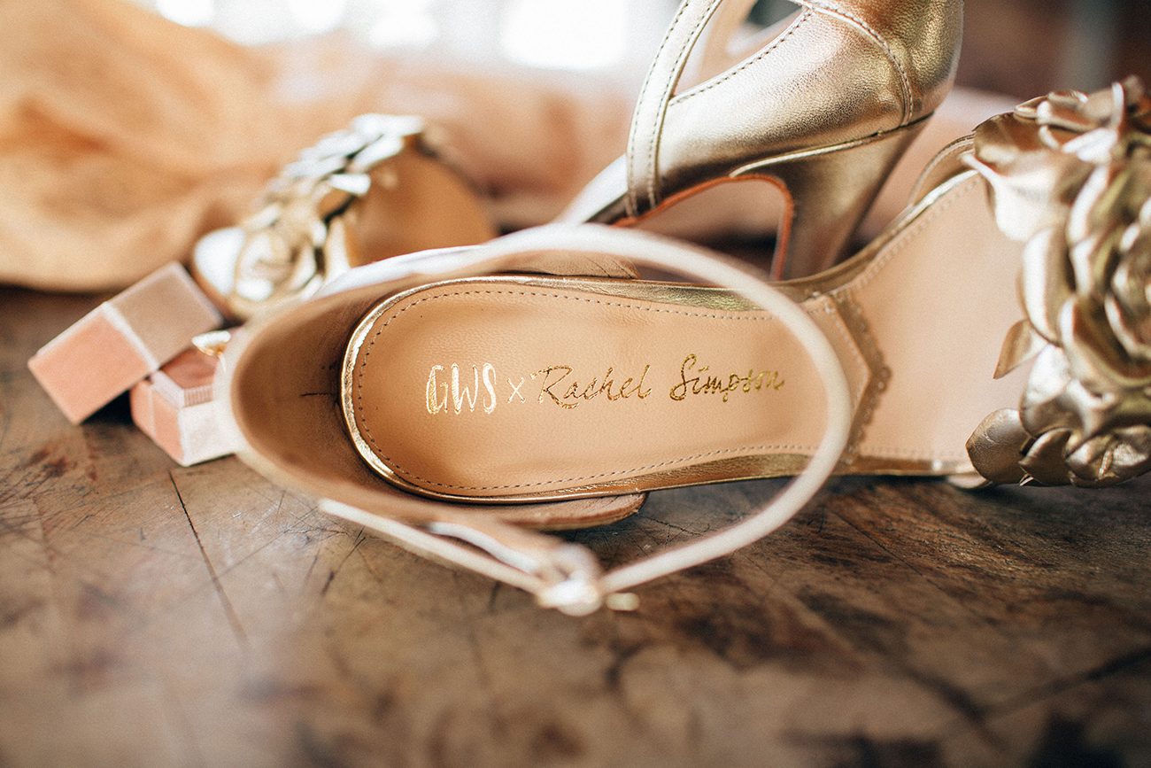 GWS x Rachel Simpson Gold Floral Zadie Shoe at Triunfo Creek