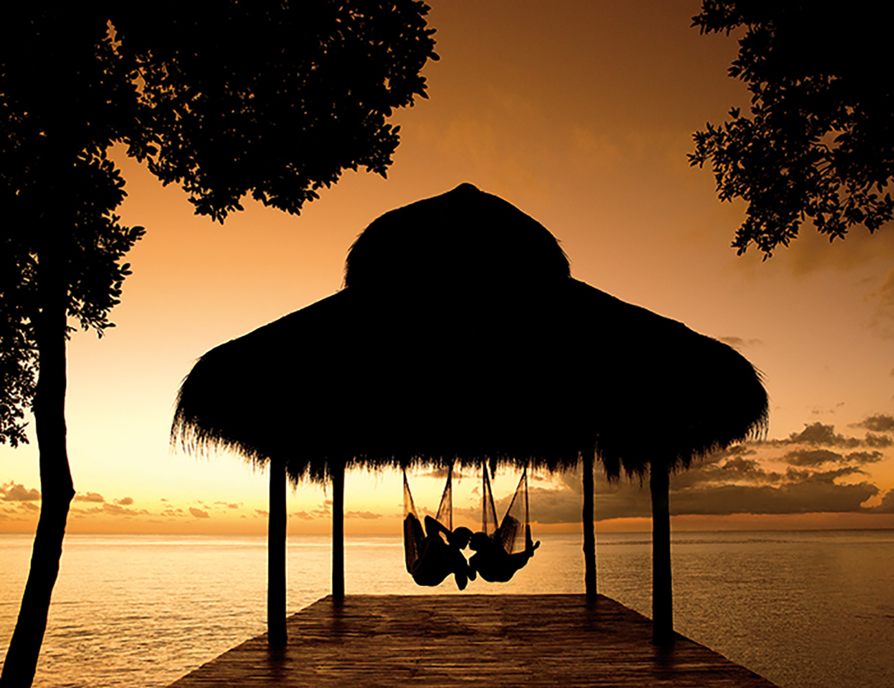 Honeymoon Vacation Hammock Sunset Secrets Resort