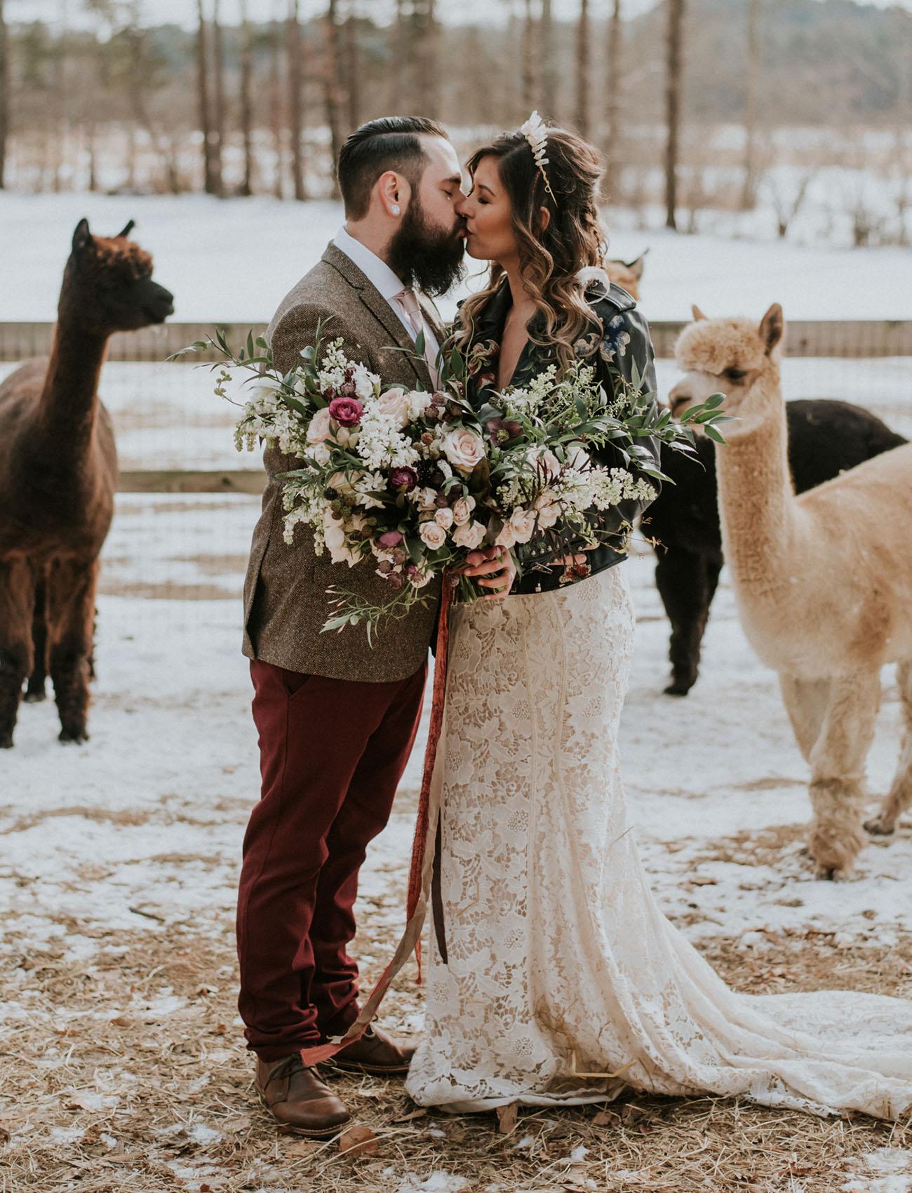 Alpaca Winter Wedding Inspiration
