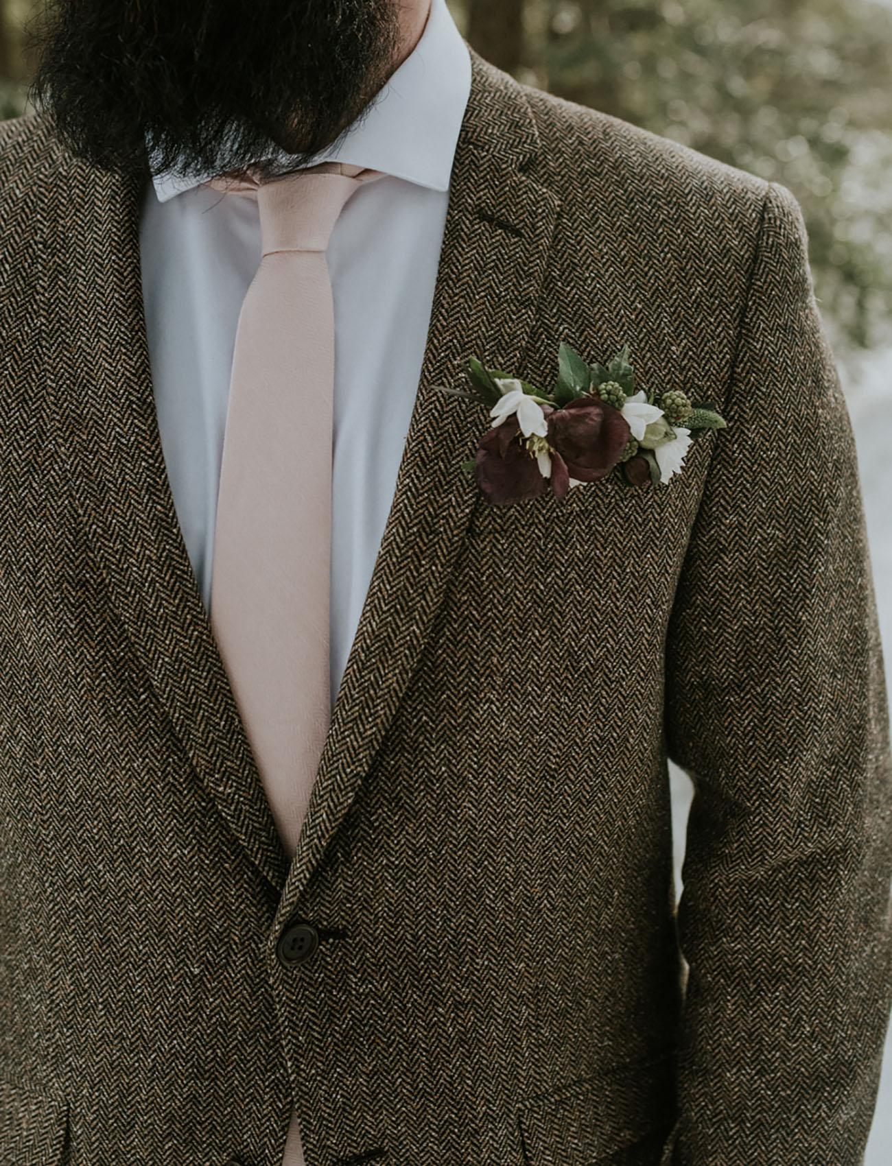 pink grooms tie
