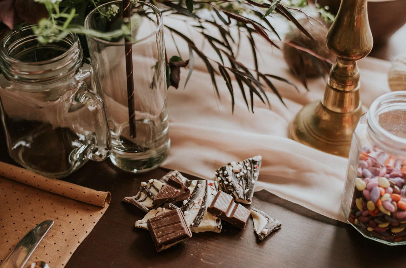 chocolate table decor