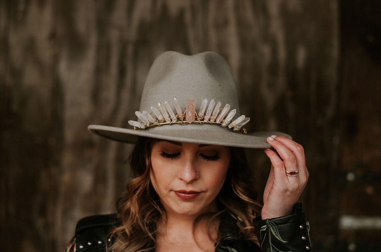 crown bridal hat
