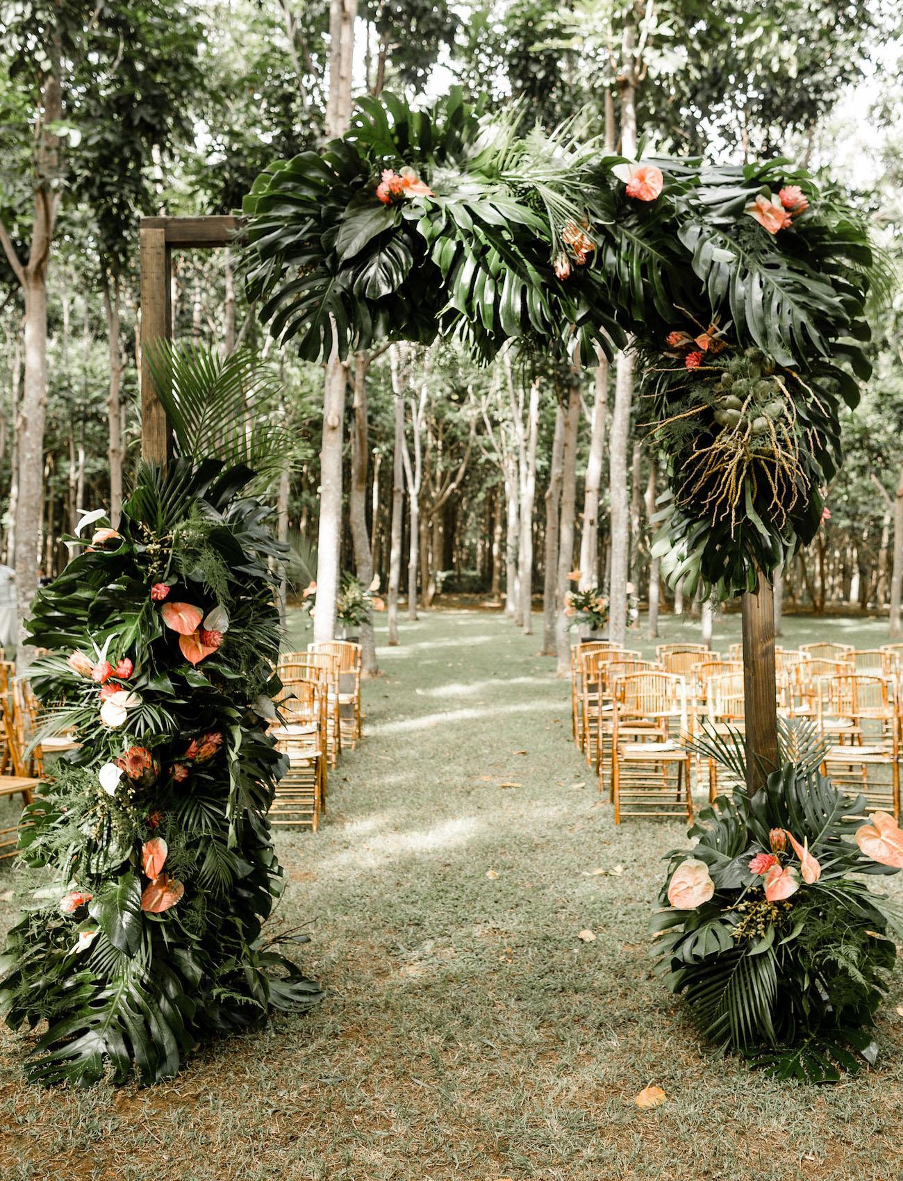 tropical ceremony arbor