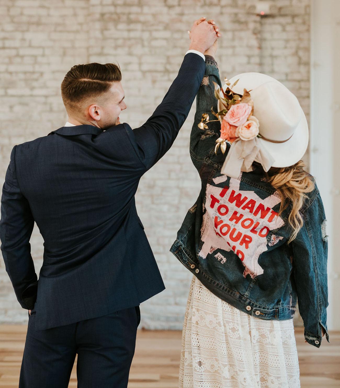 jean bridal jacket