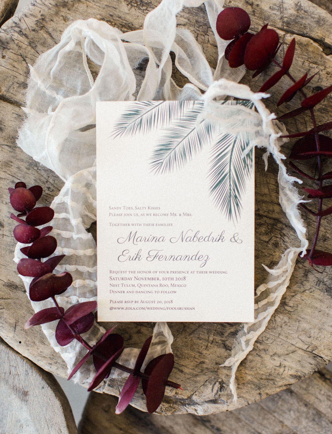 feather invitation card