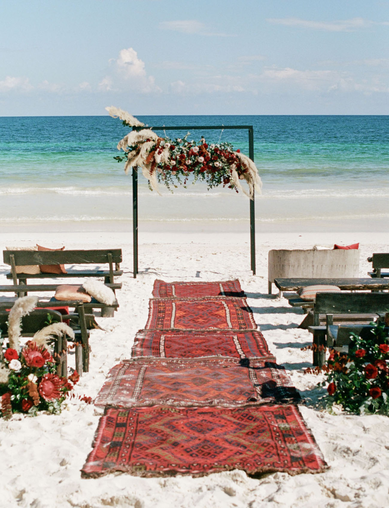 boho beach ceremony