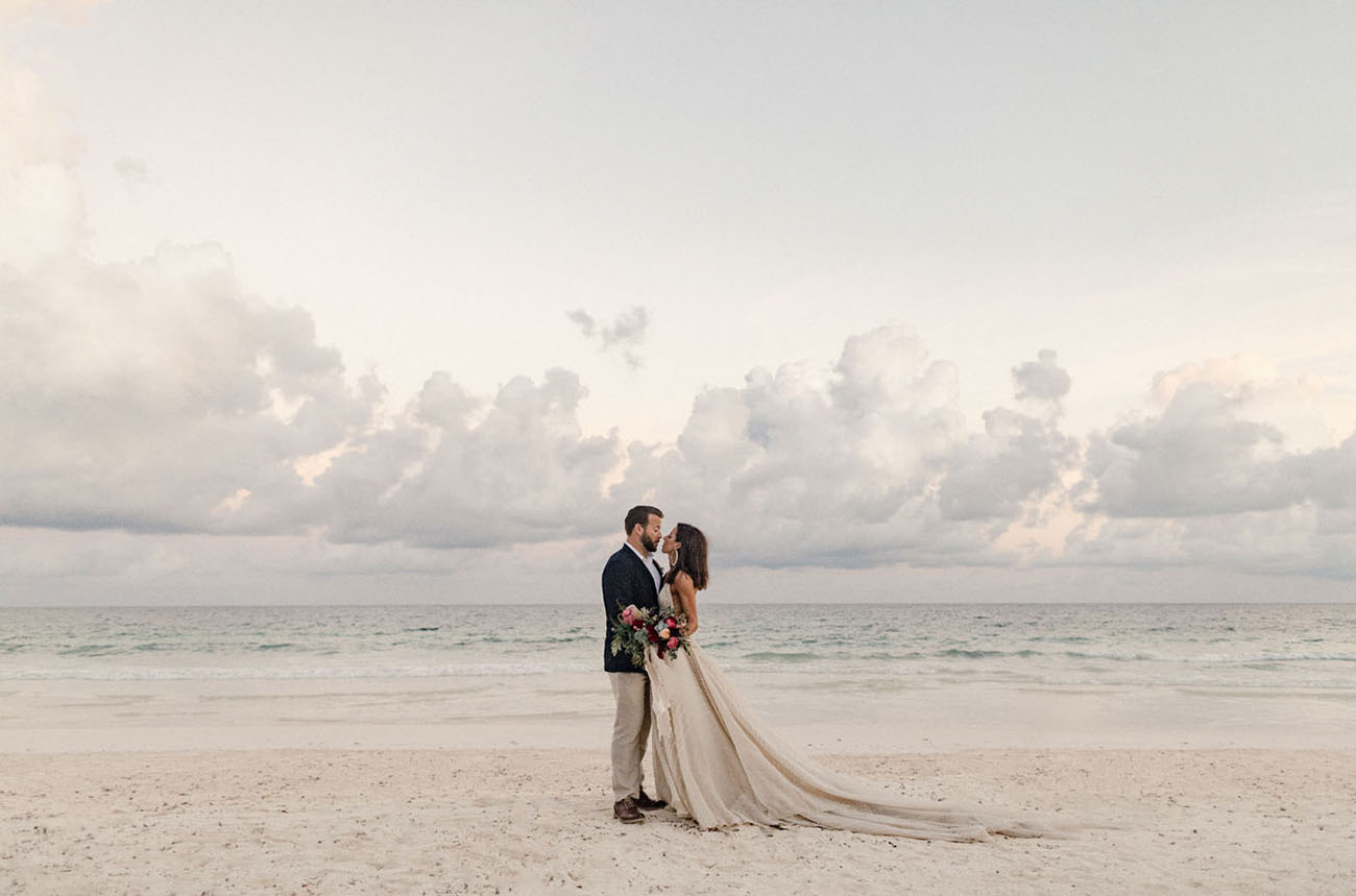 Winter Beach Tulum Wedding