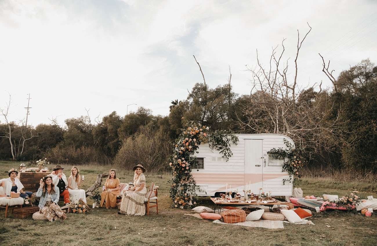 Galentine's Day Glamping Inspiration