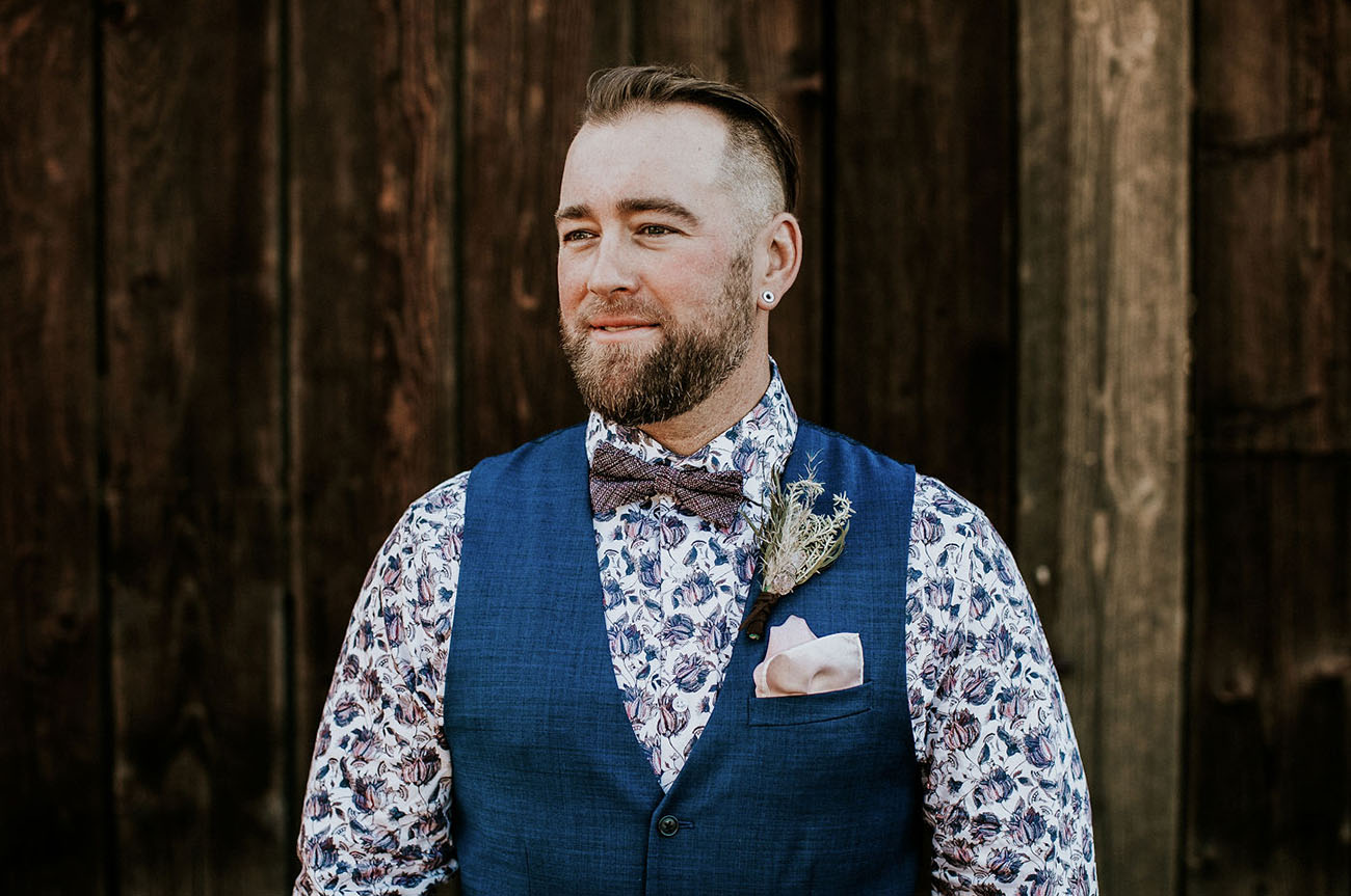 floral shirt groom