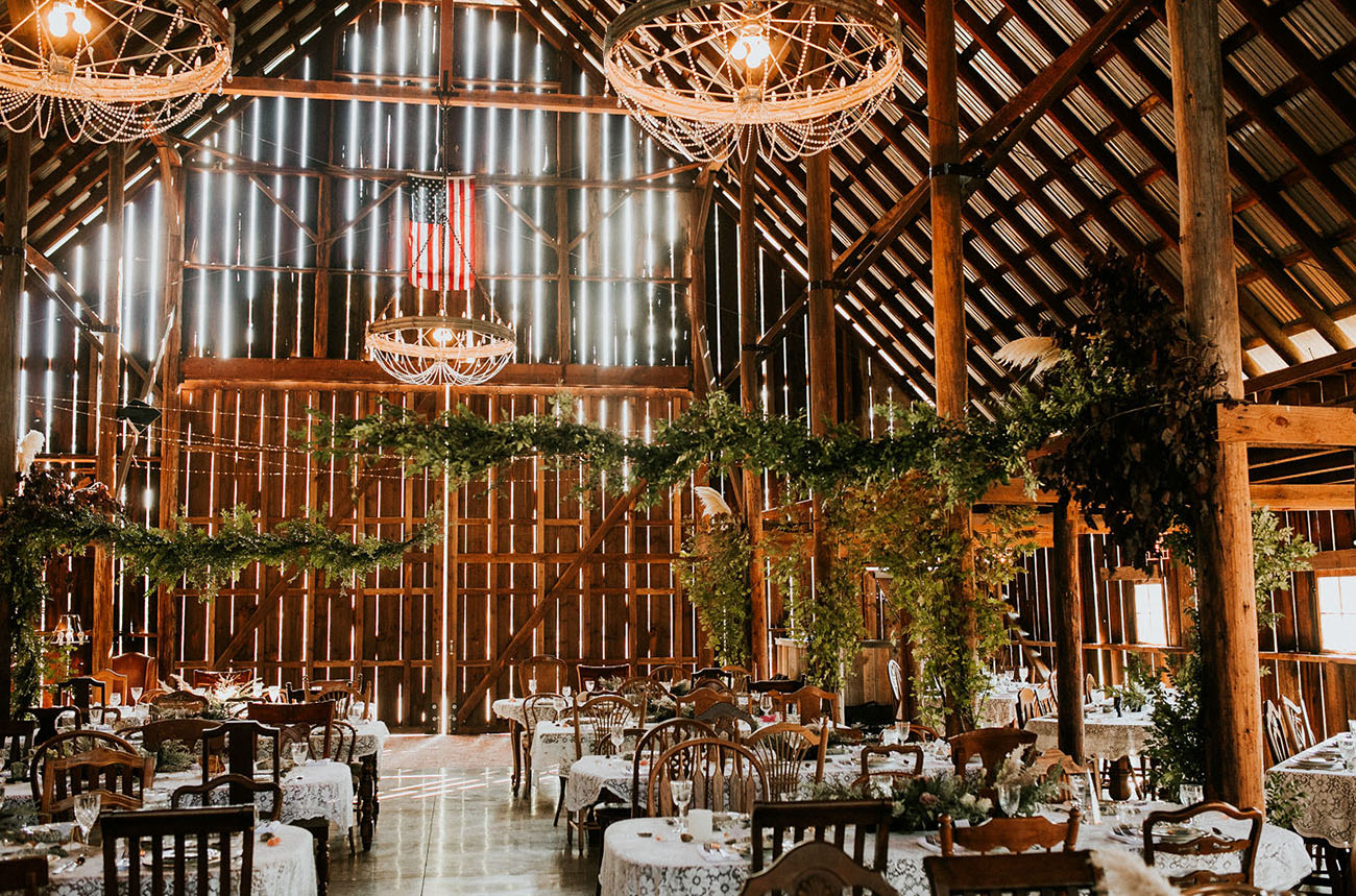 Floral Oregon Barn Wedding