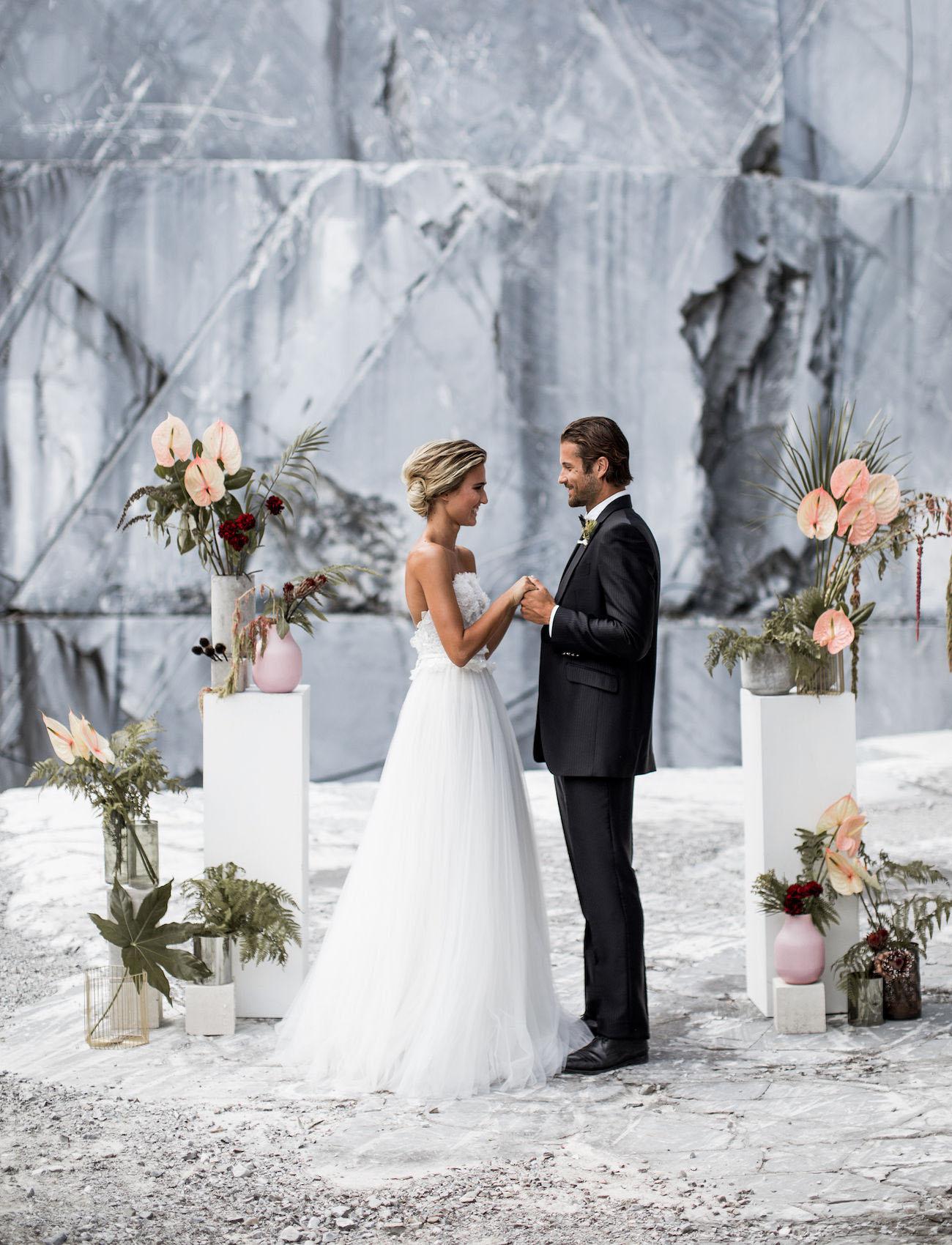 Italian Marble Quarry Wedding Inspiration