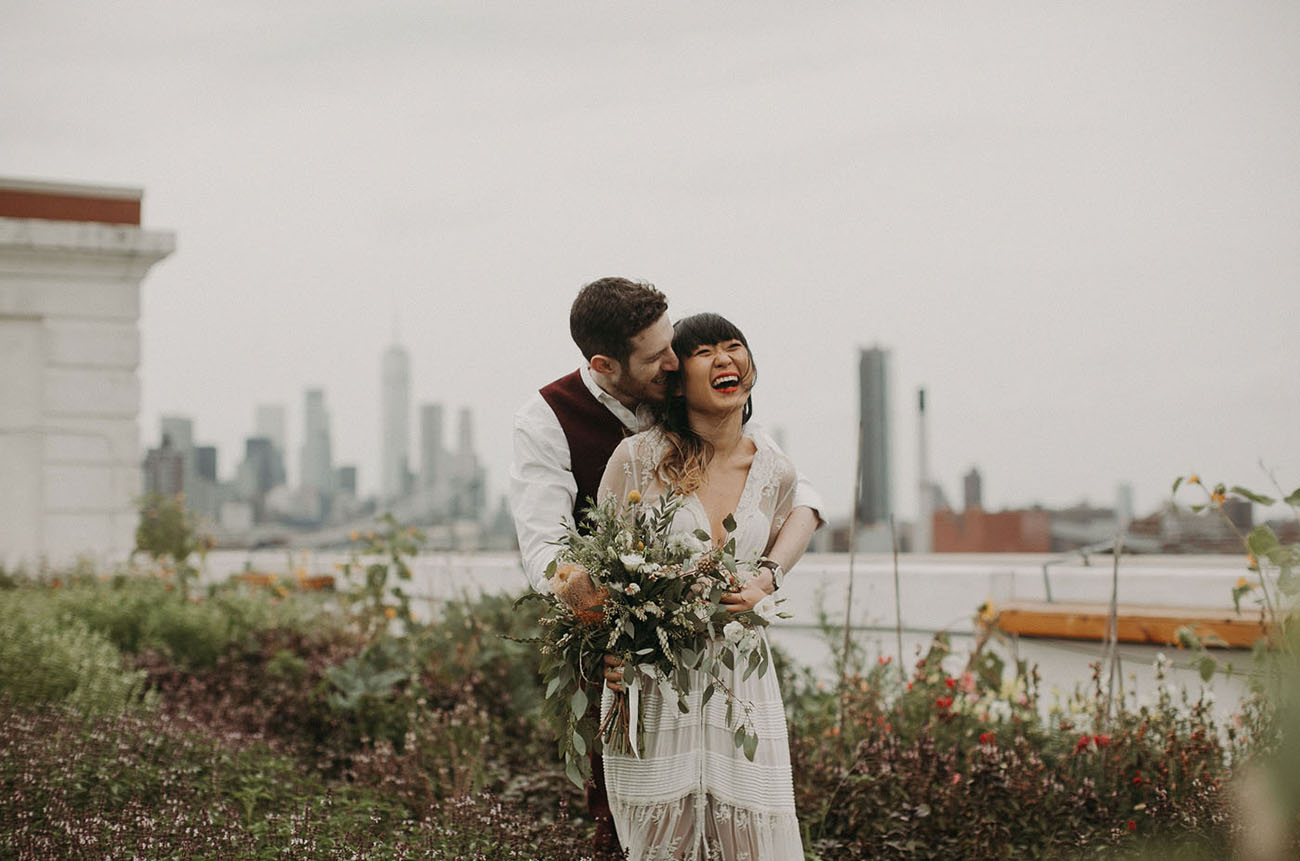 Rooftop New York Wedding