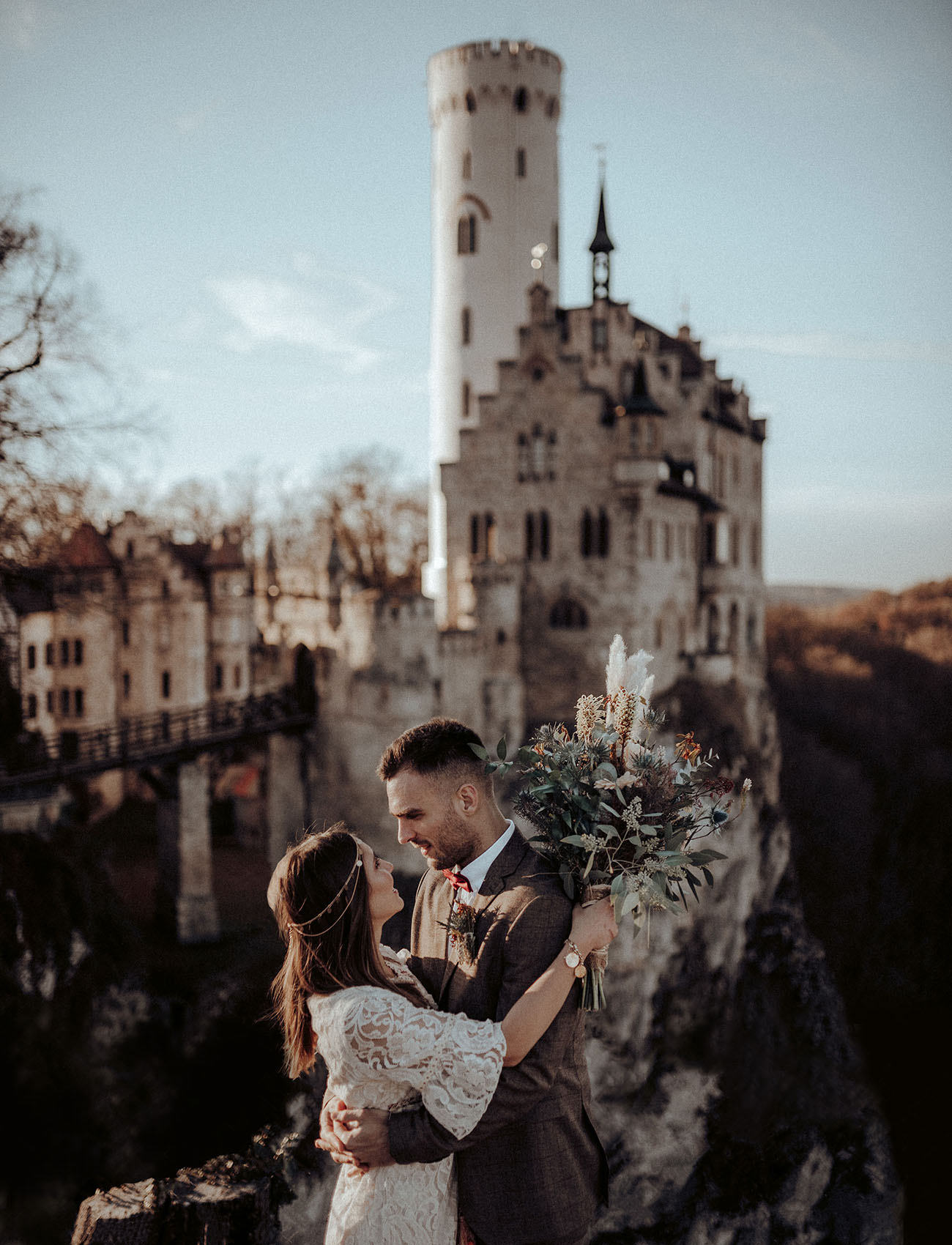 Boho Elopement Inspiration at a Gothic Revival-Style Castle in Germany