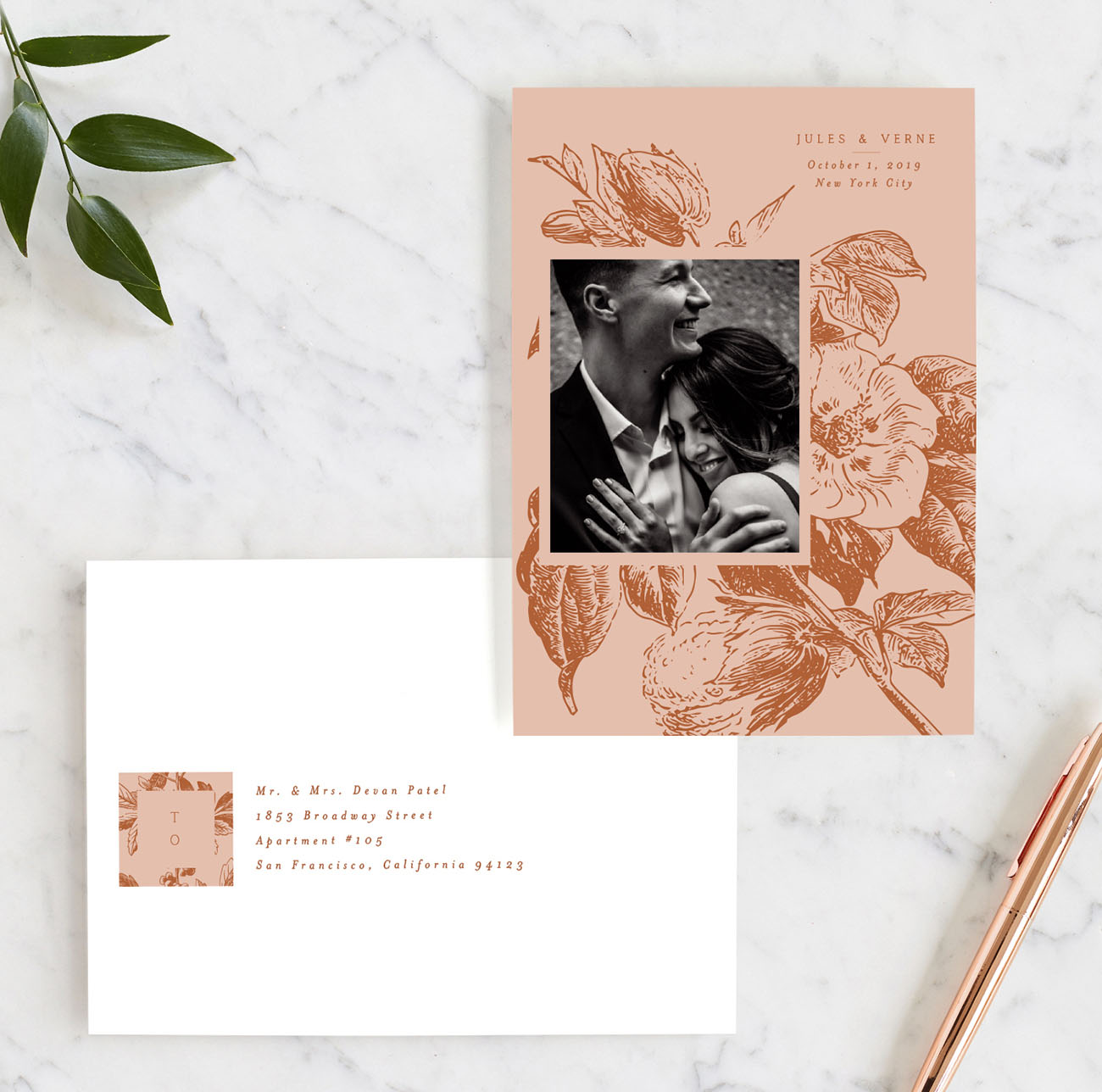 Floral Vintage Romance Save the Date on Minted