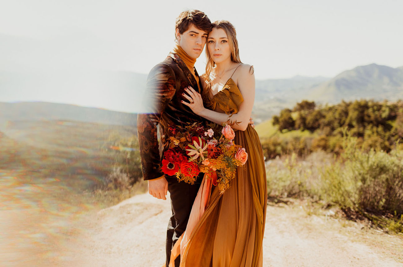 Saffron + Scarlet Valentines Wedding Inspiration