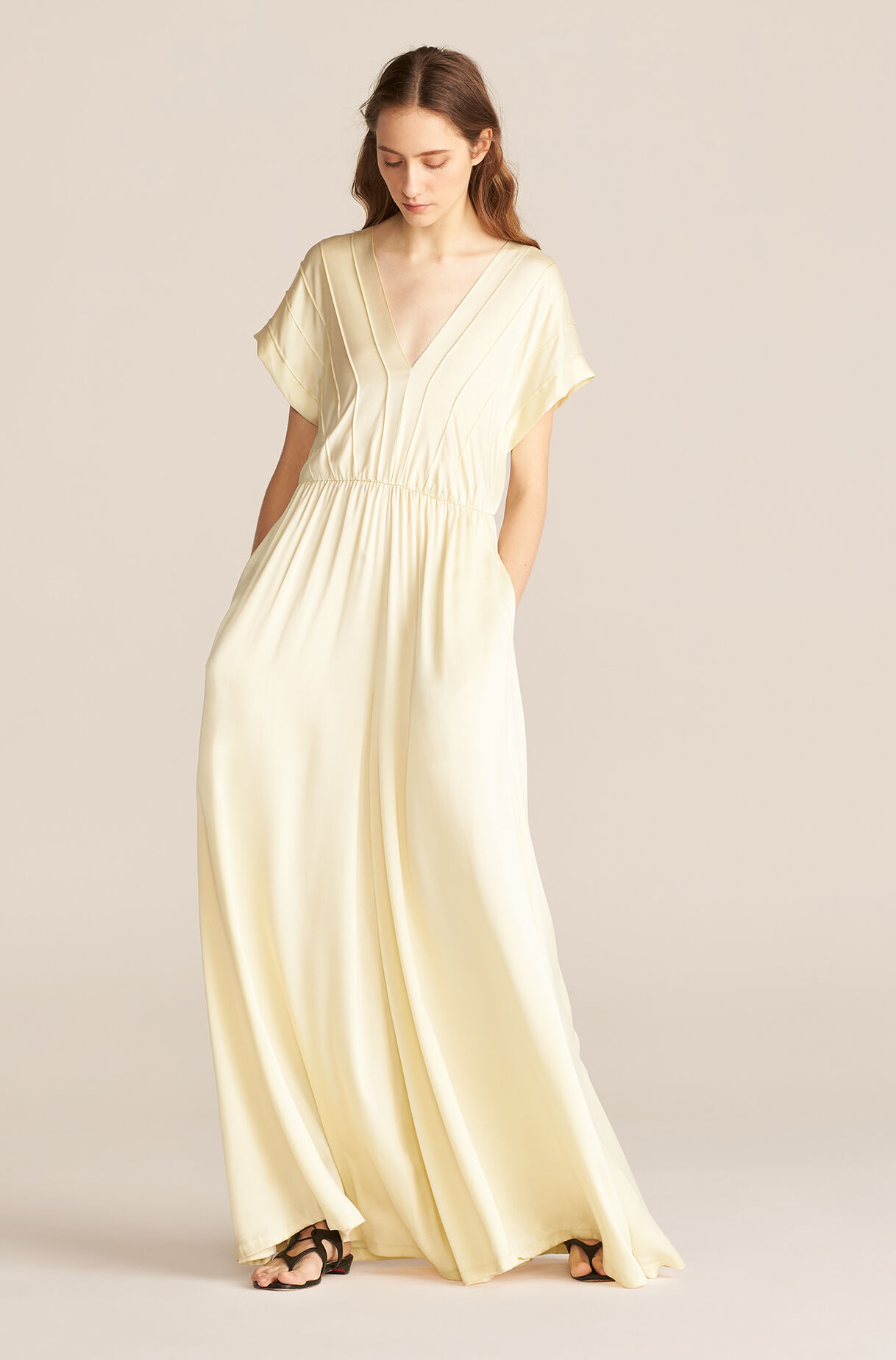 lemonade yellow jumpsuit for a spring wedding