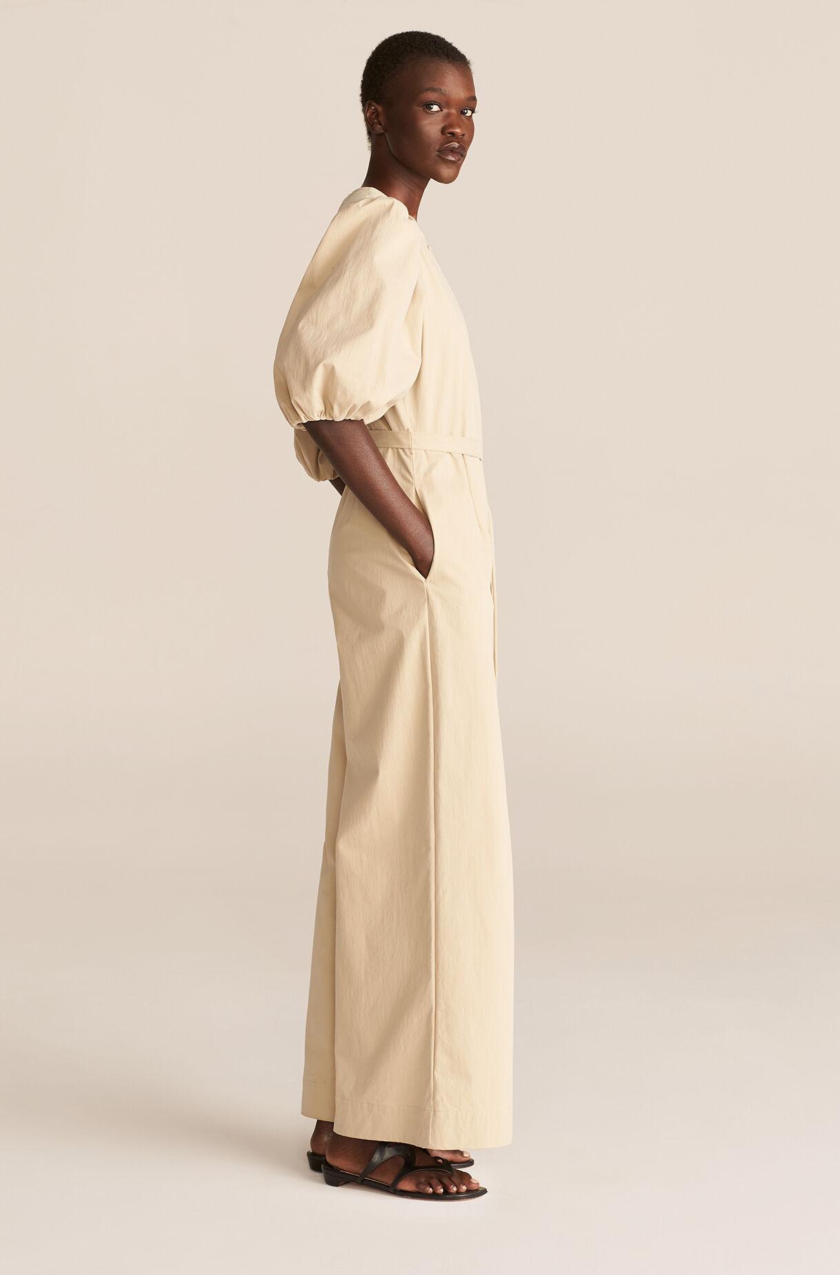 khaki jumpsuit for spring wedding