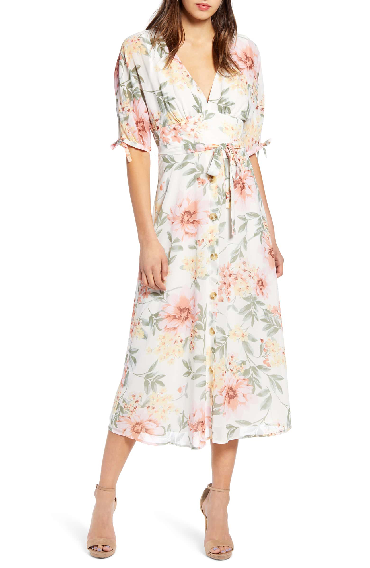 Floral Dress What to Wear to Spring Wedding