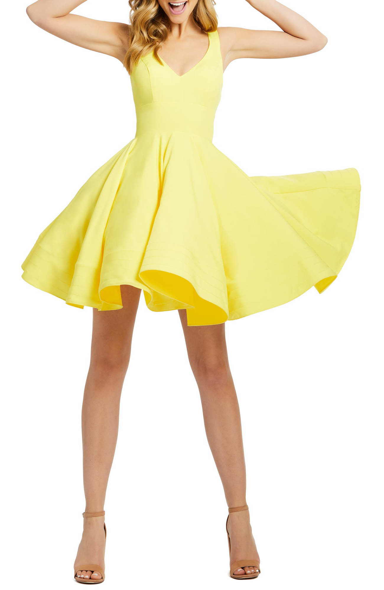 yellow spring dress wedding guest dress from anthropologie