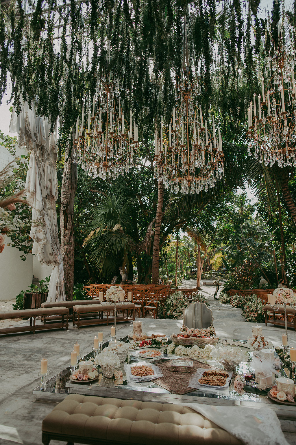dreamy wedding reception